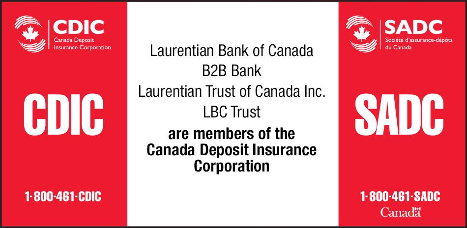 Personal Banking Laurentian Bank Of Canada Cdic Deposit Insurance